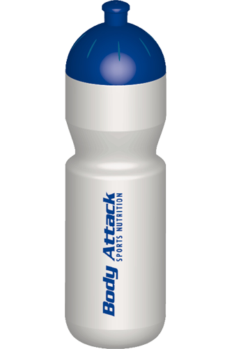 Body Attack Sports Nutrition Drinking bottle - 750ml white-blue