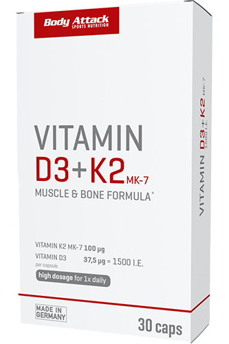 Body Attack Vitamin - D3 + K2  30 Caps