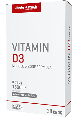 Body Attack Vitamin D3 - 30 Caps