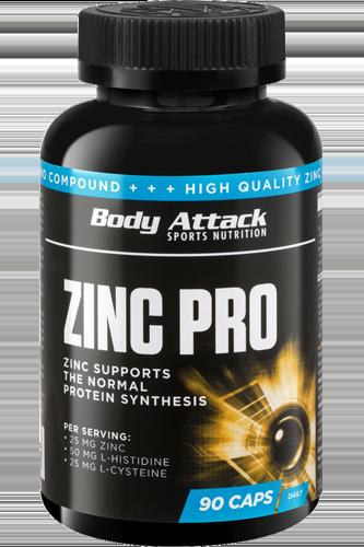 Body Attack Zinc PRO - 90 Caps Restposten