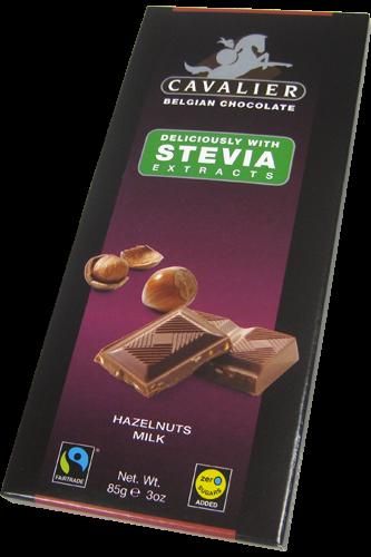 Cavalier Schokolade Tafel Stevia 85g