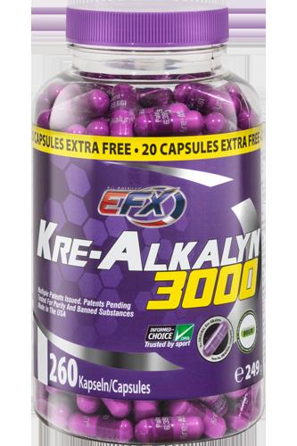 EFX Kre-Alkalyn 3000 - 260 Caps Restposten