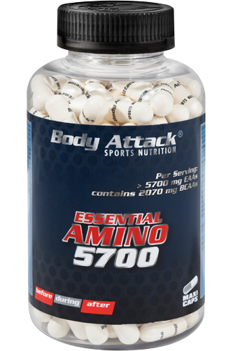 Body Attack Essential Amino 5700 - 180 Caps