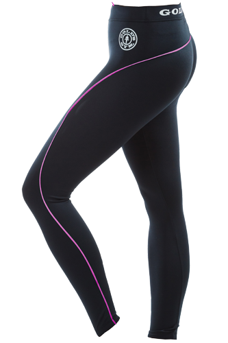Gold�s Gym Ladies Long Gym Leggings Black/Pink
