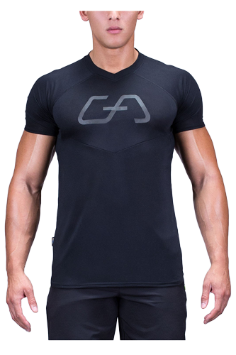Gym Aesthetics T-Shirt Herren Regular Fit - schwarz