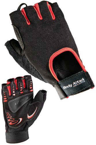 Body Attack Sports Nutrition Power Fitness Weight Lifting Gloves