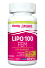 Body Attack LIPO 100-FEM - 60 Caps