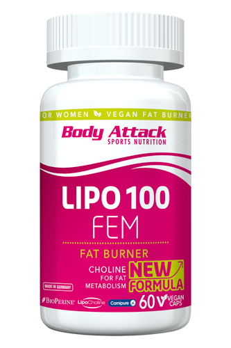 Body Attack LIPO 100 - FEM 60 Caps
