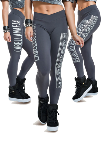 LaBellaMafia Legging GRAFFITI GRAY