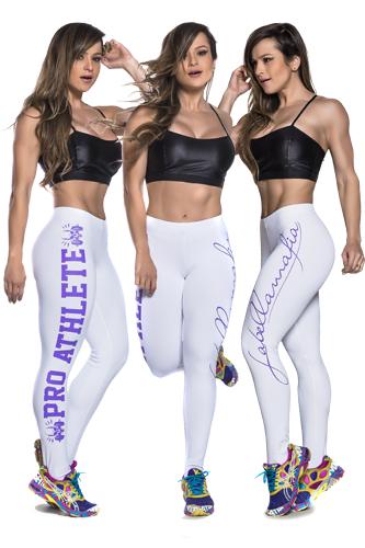 LaBellaMafia Legging PRO ATHLETE white-purple