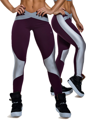 LaBellaMafia Legging SILVER X GRAPE