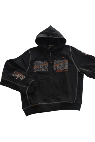 Legal Power Hoodie Jacke Poorboy schwarz
