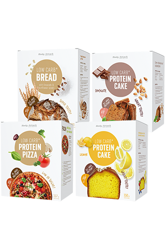 Body Attack Protein Low-Carb*-Backmischung Variety Pack - 4er Pack