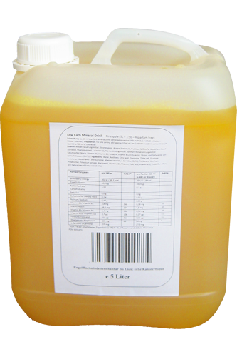 Body Attack Low Carb Mineral Drink 5000 ml