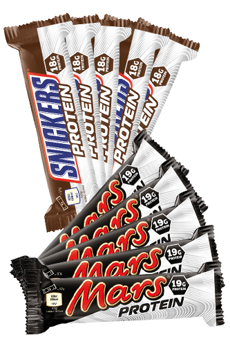 Mars & Snickers Protein Riegel Mix Box - 10er Pack