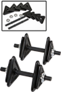 2 X-TECH Kurzhanteln 10kg schwarz