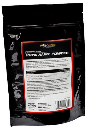 My Supps 100% AAKG Powder - 250g Restposten
