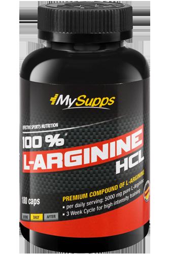 My Supps 100% L-Arginine HCL - 180 Caps Restposten