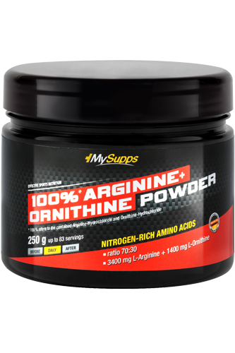 100% Arginine + Ornithine Powder - 250g