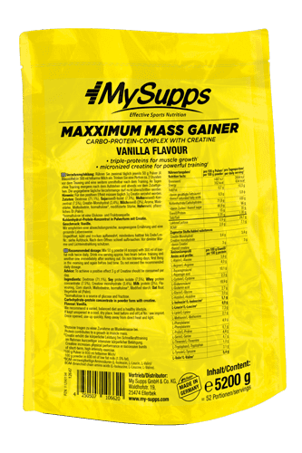 My Supps Maxximum Mass Gainer - 4500g