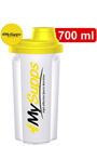 My Supps Protein Shaker white