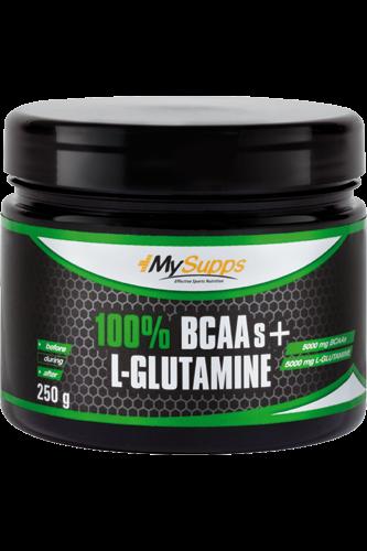 My Supps 100% Pure BCAA plus L-Glutamine - 250g