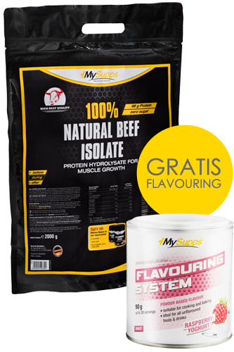 100% Natural Beef Isolate 2kg + Gratis Flavouring