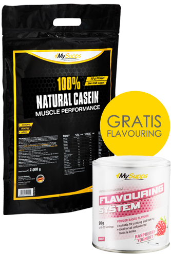 My Supps 100% Natural Casein 2kg + Flavouring 90g