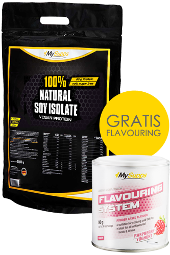 My Supps 100% Natural Soy Protein Isolat 2kg + Flavouring 90g