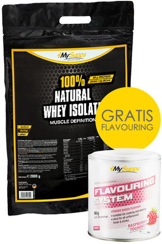 My Supps 100% Natural Whey Isolate 2kg + Flavouring 90g