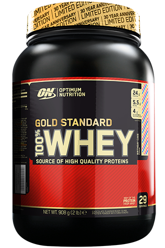 Optimum Nutrition Gold 100% Whey - 908g Birthday Cake