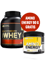 Optimum Nutrition 100% Whey Protein 2270g + Amino Energy 90g gratis