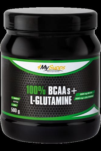 My Supps 100% Pure BCAA plus L-Glutamine - 500g
