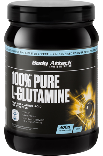 Body Attack 100% Pure L-Glutamine - 400g