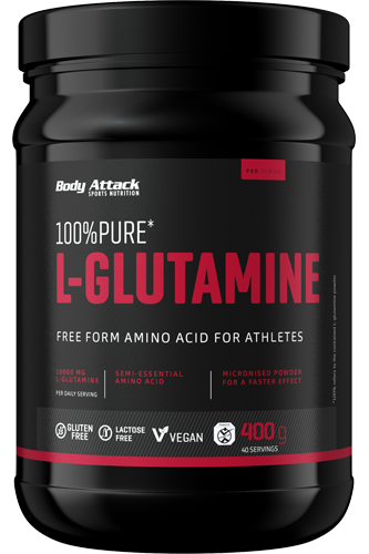 Body Attack 100% Pure L-Glutaminsäure - 400g