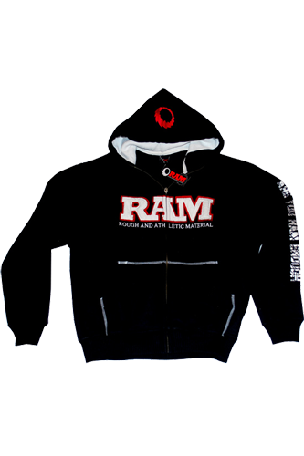 RAM Hoodie double Applique black