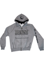 RAM Hoodie double Applique grey