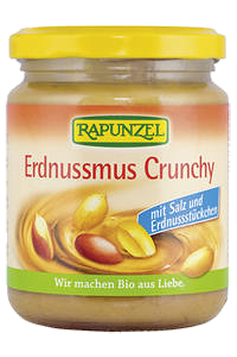 Rapunzel Protein Erdnussmus Crunchy - 250g