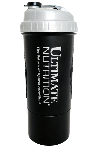 Ultimate Nutrition Shaker mit Kapselbehälter - 600ml