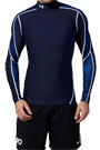Under Armour Kompressionsshirt - Under Armour Coldgear Compression Mock royal