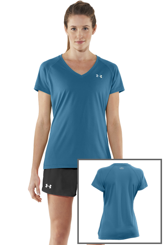 Under Armour Woman Tech T-Shirt - petrol
