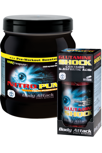 Body Attack Workout Duo: Nitro Pump + Glutamine Shock