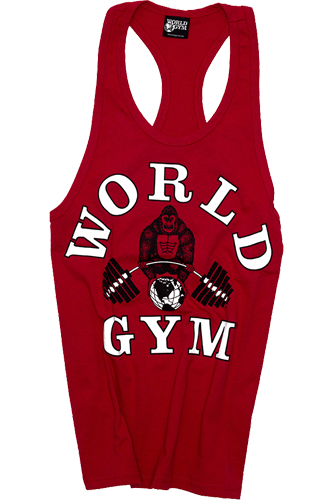 World Gym Classic Stringer Tank Top red