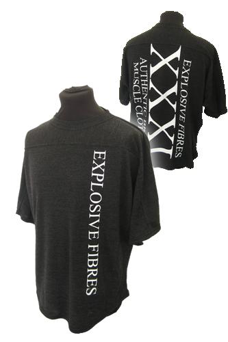 XXXL Explosive Fibres T-Shirt schwarz-grau