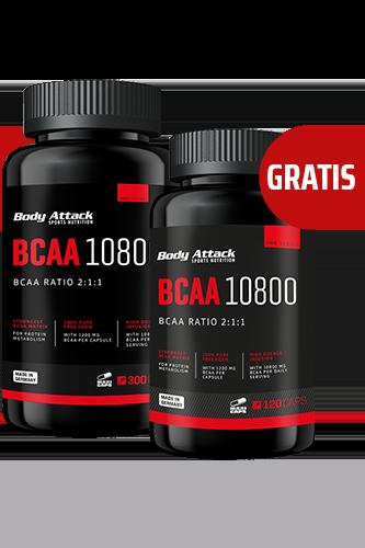Body Attack BCAA 10800 300 Caps + 120 Caps gratis