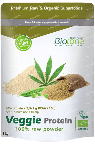 Biotona Veggie Protein 100% Raw Powder - 1000g