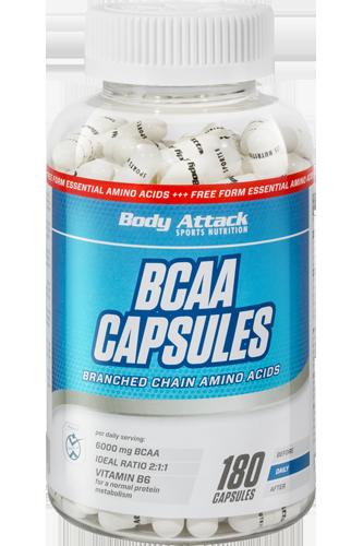 Body Attack BCAA Capsules - 180 Caps Restposten