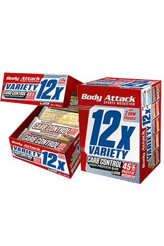 Body Attack Carb Control Variety Pack - 12er Pack