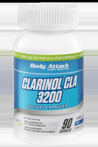 Body Attack Clarinol CLA 3200 - 90 Softgel Caps
