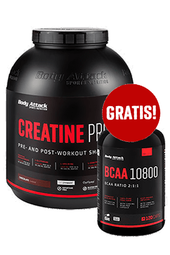 Body Attack Creatine Protein - 2kg + BCAA 10800 120 Caps